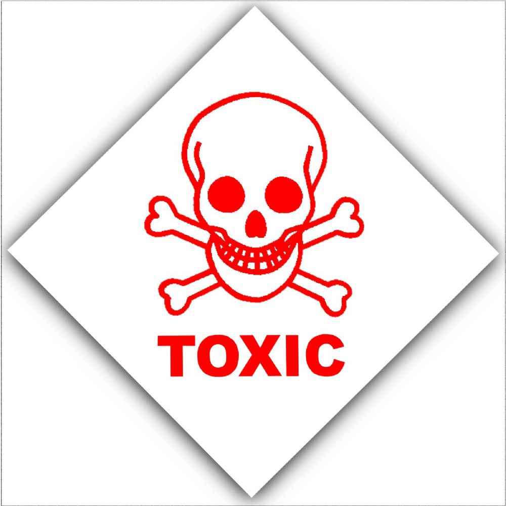 1 x toxic health and safety self adhesive vinyl sticker warning 1 x toxic health and safety self adhesive vinyl sticker warning danger hazard symbol sign altavistaventures Images